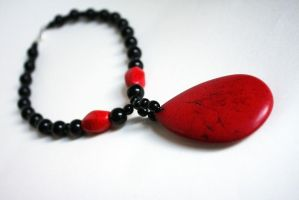 blood drop - vampire necklace by dear-dead-ofelia