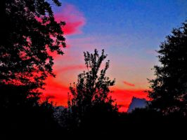 sunset on 7/18/2015 #2 poster effect by HomeOfBluAndshadows