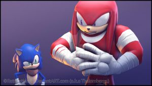 SFM - Boom Sonic and Knuckles by RatchetMario