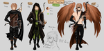 Knight Turul - Reference with three forms by LotusLumino