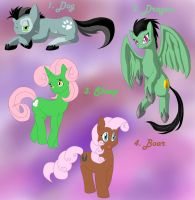 Chinese Zodiac Part 1 Adoptables by Emilou1985