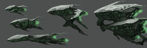 Alien Spaceships by PeterPrime
