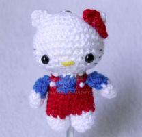 hello kitty keychain by pirateluv