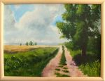 The road through the fields by mwolski