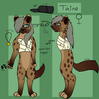 Taino Anthro reference sheet by Jolts-of-Blue