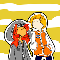 finn and flame princess by cloudyshin