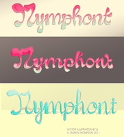 'Bubble Script' Nymphont Logo by nymphont