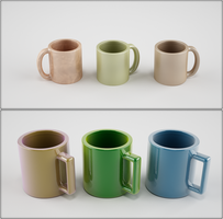 Ceramic Expresso and Coffee Cup 3D Print by nic022