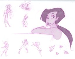 sketches - girl by scaragh