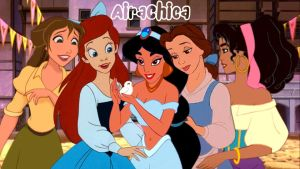 Disney girls | Gushing over a baby dove by AiraChica