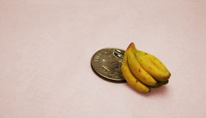 Mini banana bunch charm by LadyDeven