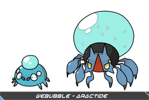 Water Spider Pokemon by harikenn