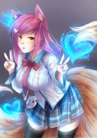 Academy Ahri :: Patreon August 2015 by Chiroyo
