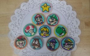 Super Mario Brothers Cookies by visualspice