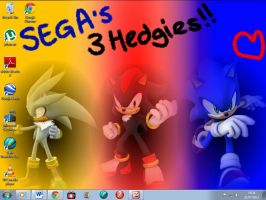 SEGA's 3 Hedgies WALLPAPER IN USE by BingotheCat