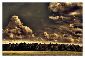 Clouds over Fields by Riffo