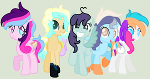 My friends .:gift:. by TheRainbowPonyKitty