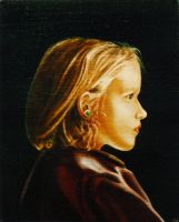 Girl with Green Ear-ring by hank1