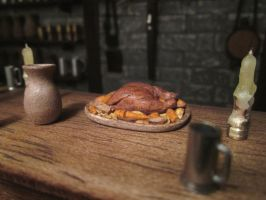 Chicken With Vegetables On The Bar by AtriellMe