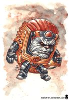 Sketch 076 Modok by MAROK-ART