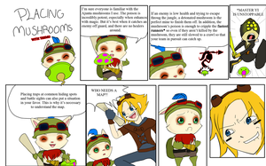 Placing Mushrooms with Teemo by Yamikaisu