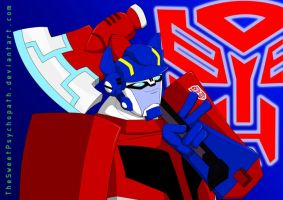 Optimus Prime by TheSweetPsychopath