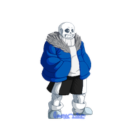 P4AU Sans Standing Sprite by OmegaSam7890