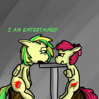 Ask Teen Applebloom - I am Entertained by Kev-Darkhood