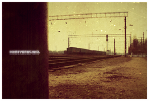 Old Train. by Lapapunk