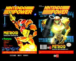 Metroid Nintendo Power Tribute by DareDesignStudio