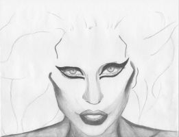 Lady Gaga WIP by PrincessHigh
