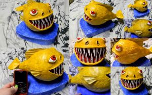 Paper Mache Fish by KittyEatsSouls