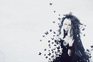 Black butterflies by GuderianRei
