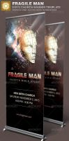 Fragile Man Church Banner Template by loswl