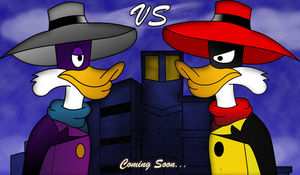 DW VS Negaduck Teaser Poster by sweetkat22