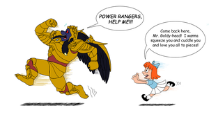Goldar and Elmyra Duff by FantasyFlixArt