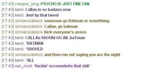 GRTwitter Convo BATMAN by technicolorcage