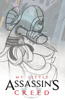 Sketch: Assassin's Creed Pony Poster by drawponies