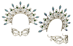 Headpiece  And Mask PNG Stock by Roys-Art