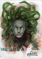 Medusa Sketch Card - BARD! by Pernastudios