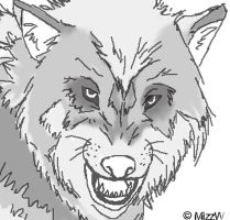 Wolf Line-art by MizzW