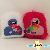 ME PLUSH YOU- Mini love yetis by loveandasandwich