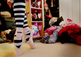 Pointe in mess by PsyckoCinderella