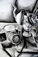 Still Life - Charcoal by sorairo-days