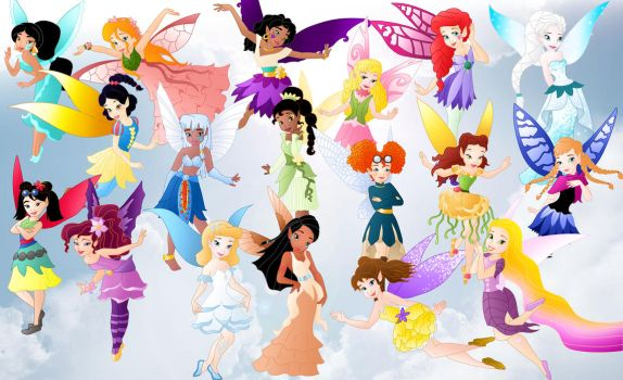 All Princess Fairies by Willemijn1991
