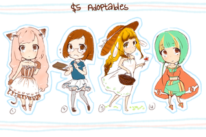 $5 Adoptables (CLOSED) by lycheebunny