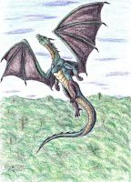 Forest Dragon__Flying by Caedus6685