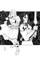 Commanders and Generals: Faie/Vos Inks by Hodges-Art