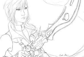 Lightning wip by AdriennEcsedi
