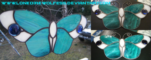 Butterfly Stained Glass 02 by LoneDireWolfess